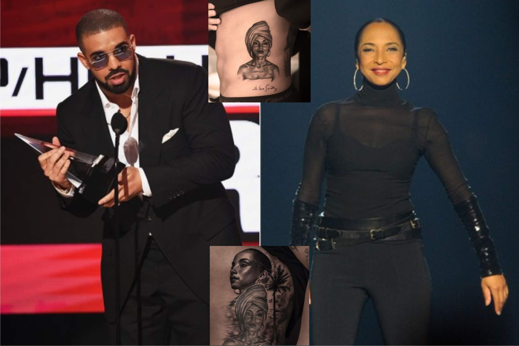 Drake Gets Second Sade Tattoo on His Body (The Mashup – More Love)