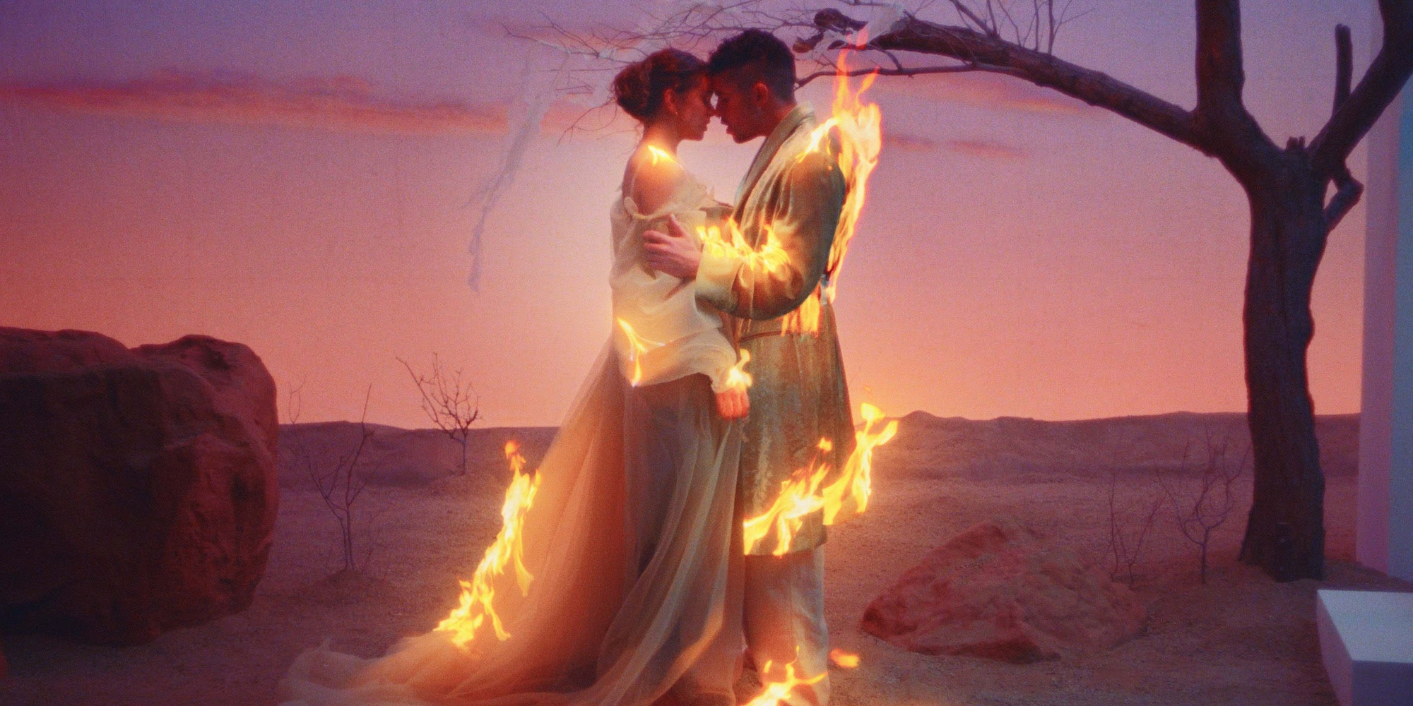 "Bad Bunny and Rosalia's love story in ""La Noche de Anoche"" is on fire"